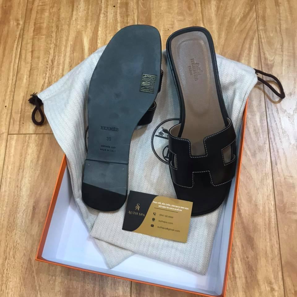 Dán đế giày dép Hermes 12