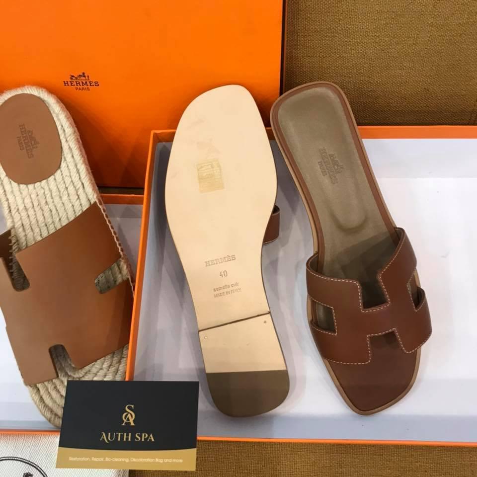 Dán đế giày dép Hermes 15