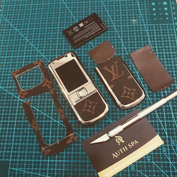 Dán da LV cho Nokia 8800 Gold Arte 1